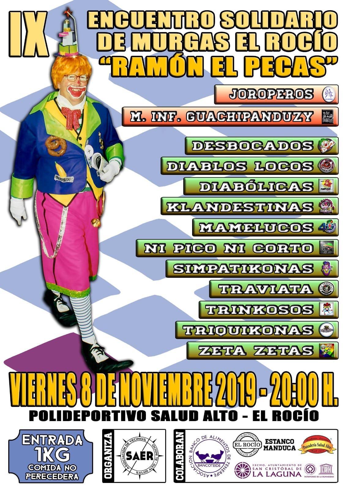 """Factoría de Carnaval dará en directo el IX encuentro solidario de Murgas El Rocío """"Ramón el Pecas"""""""